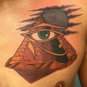 Traditional Pyramid Tattoo