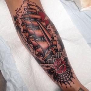 Traditional Shin Tattoos