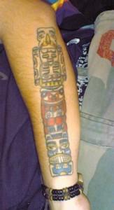 Traditional Totem Pole Tattoo