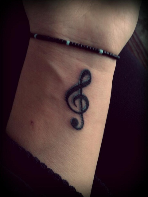 Heart Tattoo Designs Treble Clef Tattoos De...