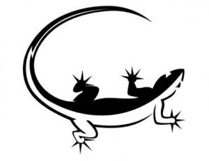 Tribal Lizard Tattoo