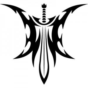 Tribal Sword Tattoo