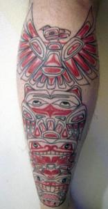 Tribal Totem Pole Tattoo