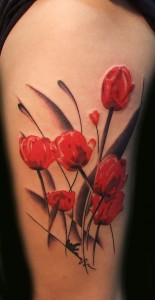 Tulip Flower Tattoos
