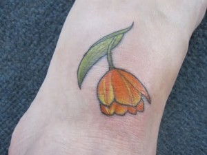 Tulip Tattoos on Foot