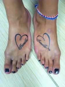Twin Tattoos for Girls