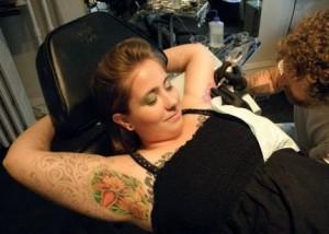 Underarm Tattoo Girl