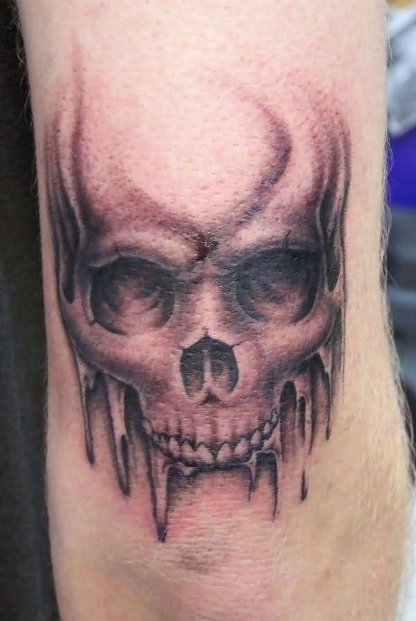 Vampire tattoos designs ideas and meaning tattoos for you for Vampire skull tattoo