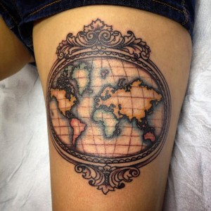 Vintage Map Tattoos