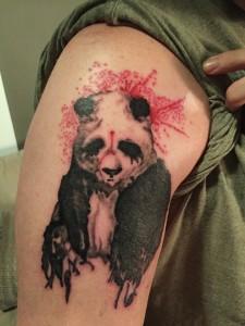 Watercolor Panda Tattoo