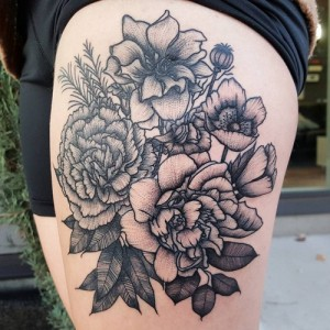 White Carnation Tattoo