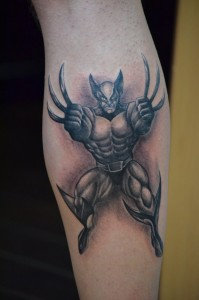 Wolverine Tattoo Black and White