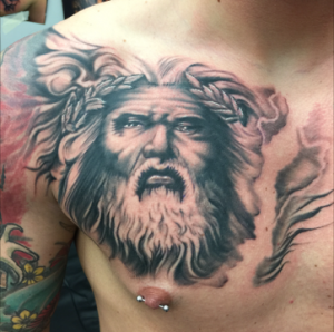 Zeus Tattoo Chest