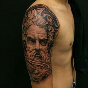 Zeus Tattoo Half Sleeve