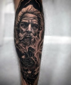 Zeus Tattoo Sleeve