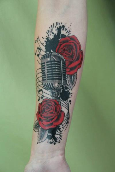 Microphone Tattoos Designs, Ideas and Meaning | Tattoos ... | 400 x 600 jpeg 20kB