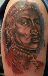 African Warrior Tattoos