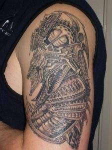 Alien Biomechanical Tattoos