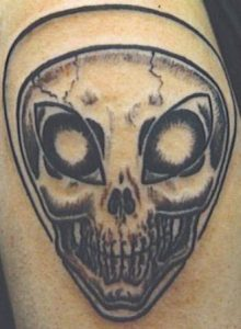 Alien Skull Tattoo