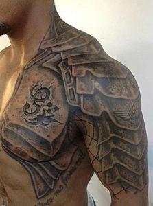 Armor Shoulder Tattoo