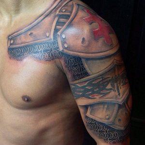 Armor Tattoo Half Sleeve