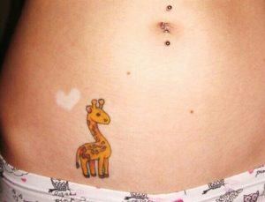 Baby Giraffe Tattoo