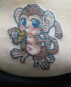 Baby Monkey Tattoos