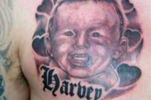 Baby Name Tattoos on Chest
