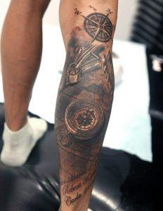 Back of Calf Tattoo