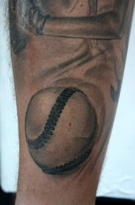 Baseball Tattoos on Forearm