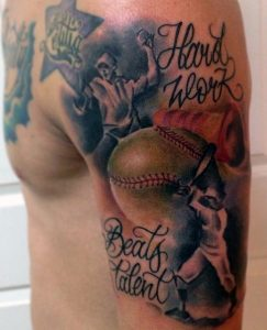 Baseball Themed Tattoos
