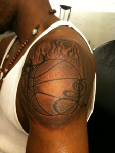Basketball Shoulder Tattoos
