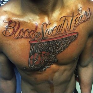 Basketball Tattoos on Chest