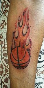 Basketball Tattoos on Forearm