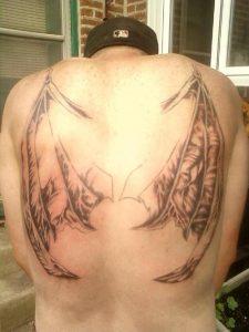 Bat Wings Tattoo