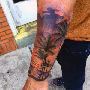 Beach Tattoos Forearm