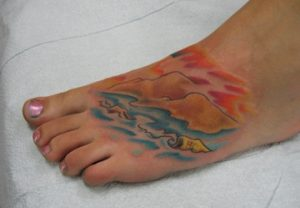 Beach Tattoos on Foot
