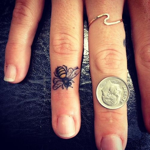 Ladybug Tattoos Designs Ideas And Meaning: Bee Tattoos Designs, Ideas And Meaning