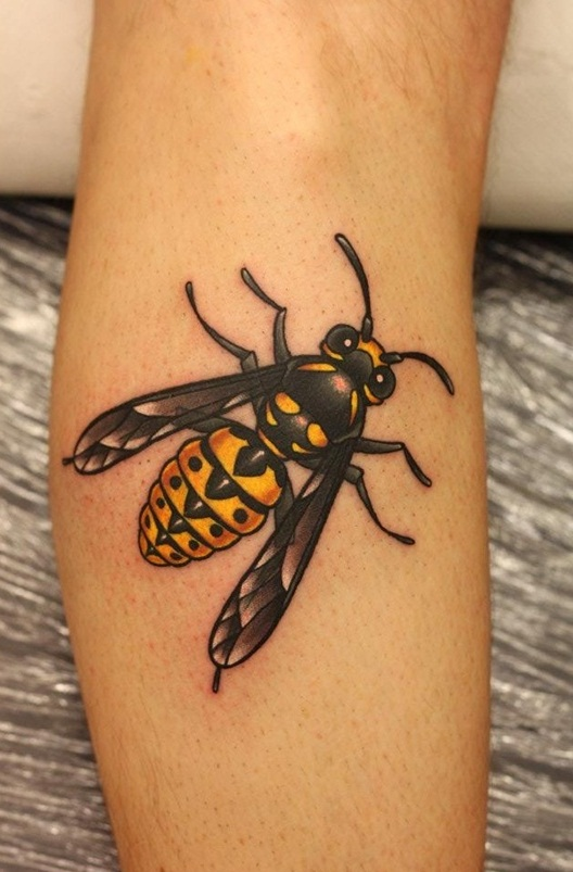 Black Bumble Bee >> Bee Tattoos Designs, Ideas and Meaning | Tattoos For You