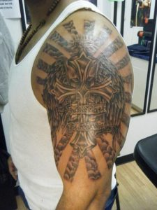 Biblical Tattoos Half Sleeves