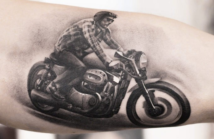 Biker tattoos designs ideas and meaning tattoos for you for Tattoo designs motorcycle