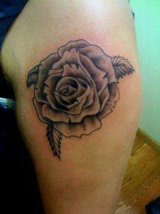 Black Rose Arm Tattoo