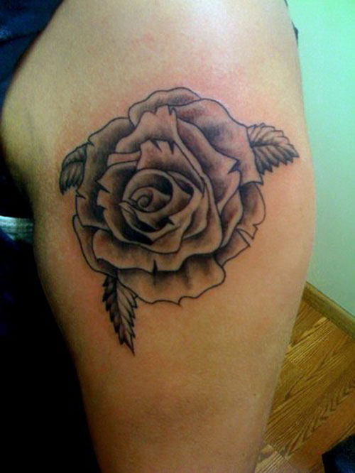 Black rose tattoos designs ideas and meaning tattoos for Rose tattoos on arm