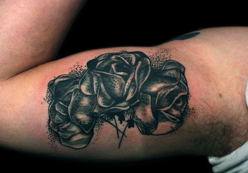 black rose tattoos designs ideas and meaning tattoos for you. Black Bedroom Furniture Sets. Home Design Ideas