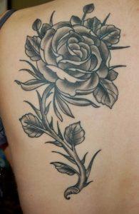 Black Rose Tattoos Designs