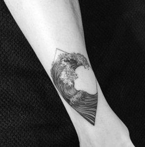 Black Wave Tattoo