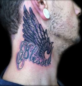 Blessed Tattoos on Neck