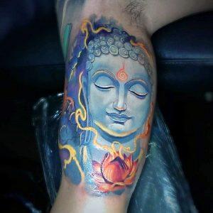 Blue Buddha Tattoo