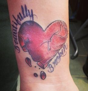Broken Heart Tattoo Images