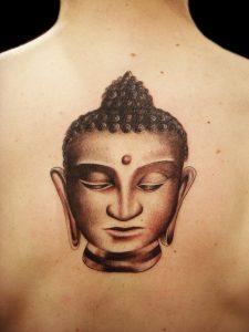 Buddha Face Tattoo